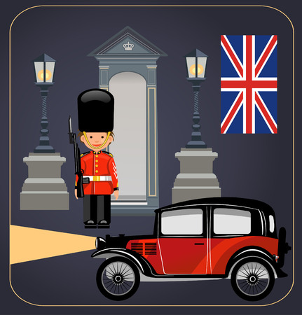 guard duty: A Royal Guard at Buckingham Palace Illustration