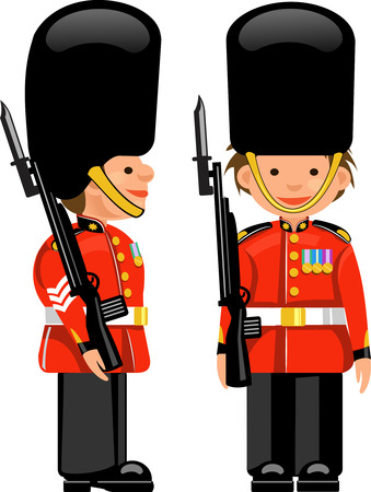 guard  guardian: A Royal Guard at Buckingham Palace Illustration
