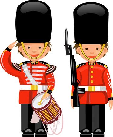 A Royal Guard at Buckingham Palace  イラスト・ベクター素材