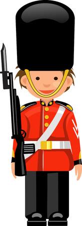 guard duty: A Royal Guard at Buckingham Palace Illustration