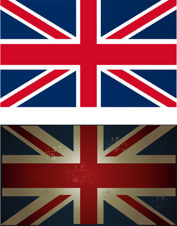 u k: vector image of old and new british flag