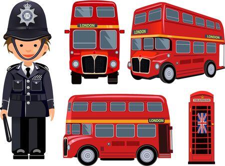 metropolitan: A metropolitan police and  London Bus