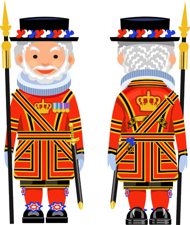 elizabeth tower: Beefeater costume at Tower of London, England