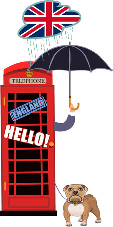 old telephone: Red, Britain, old telephone and Boy