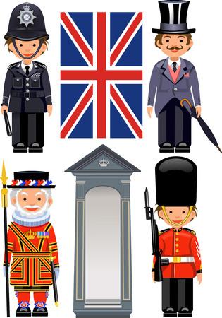 buckingham palace: A Royal Guard at Buckingham Palace. British metropolitan police officers.