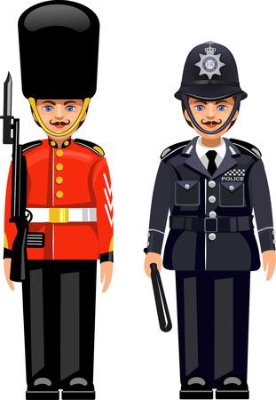 バッキンガム宮殿でロイヤル ガード。イギリス首都警察。