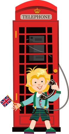 phonebox: Red, Britain, old telephone and Boy