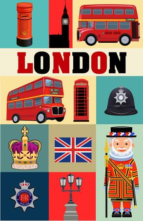westminster: UK London symbol Illustration
