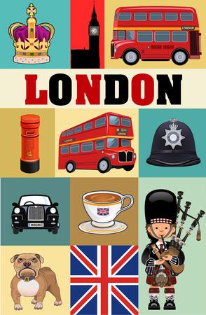 uk: UK London symbol Illustration