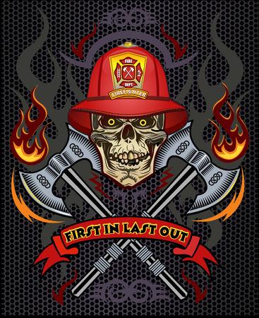 bombero de rojo: tatuaje del bombero