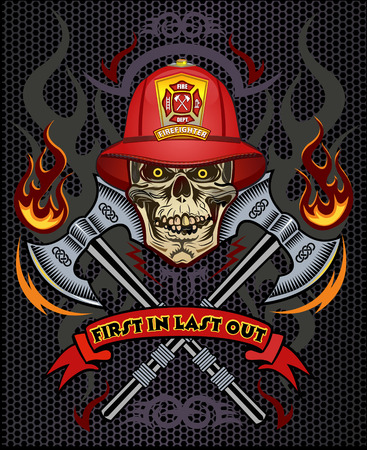 casco rojo: tatuaje del bombero