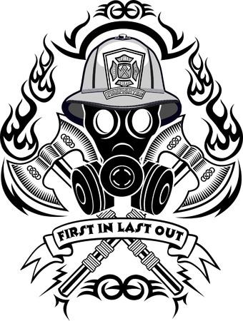 human skull: Firefighter Tattoo