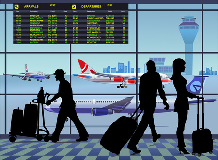 airport terminal: AirPort Illustration