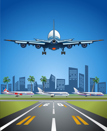 pleasant: Pleasant flight. Airplane in Summer Illustration
