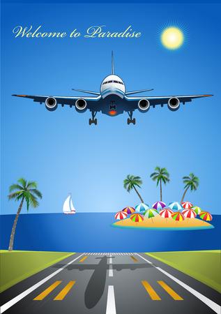 depart: Airplane in Summer