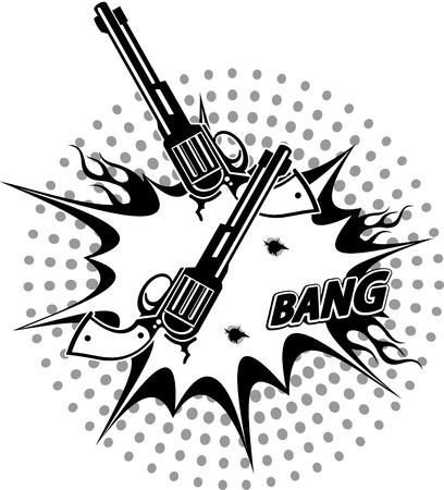 revolver: Revolver and Bullet Hole