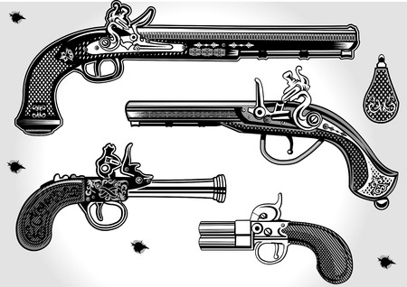 flintlock: Flintlock Antique Pistol