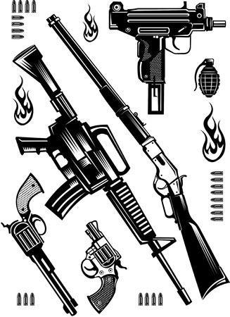 old and modern Guns