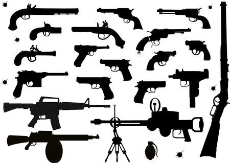 pistola: Armas de fuego: antigua y moderna