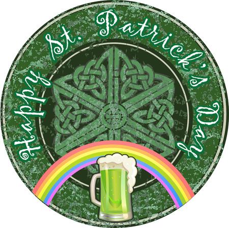 trifolium: Saint Patricks Day symbols vector set