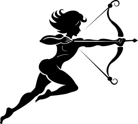 fallout: Woman hunter tattoo. Bow and arrow