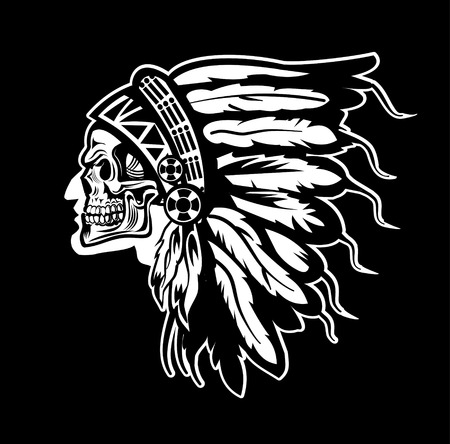 chief: Indian chief skull