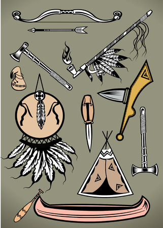 peace pipe: American Indian Set