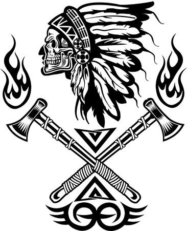 Indiaanse opperhoofd tomahawk
