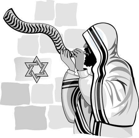 Western wall. Jerusalem. Israel. Illustration
