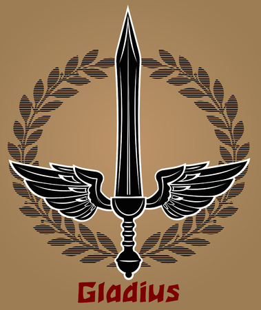 gladius: Roman Gladius short sword Illustration