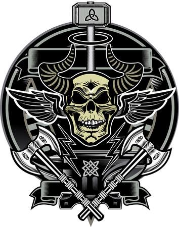 thor's: Thors Hammer & Skull