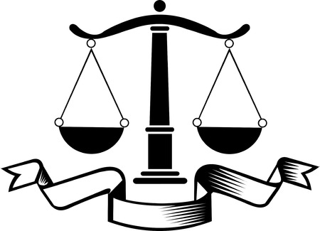 legality: Law firm justice scale