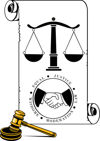lawful: No justice without wisdom Illustration