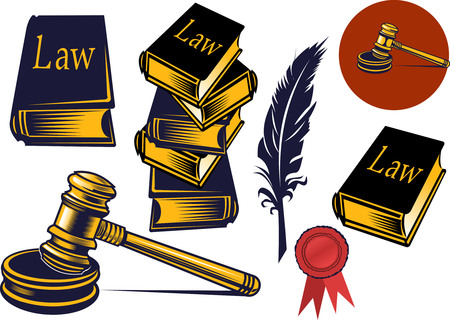 auctioneer: Gavel - hammer of judge or auctioneer Illustration