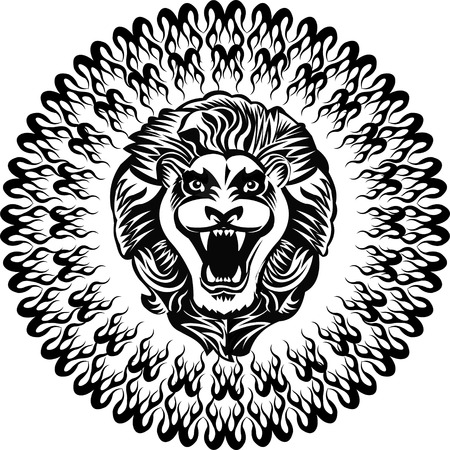 Rey del tatuaje del león