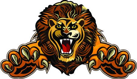 head of lion: Lions jump