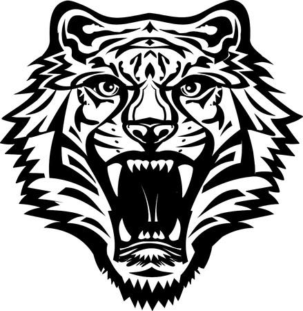 big cat: Tiger Face Illustration
