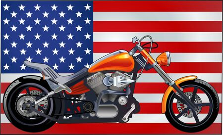 iron fun: Motorbike and USA flag