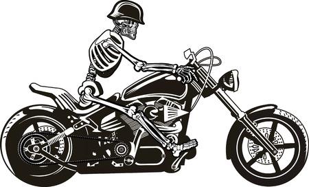 Skeleton on Motorbike