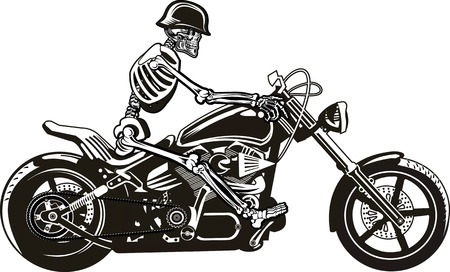strong skeleton: Skeleton on Motorbike