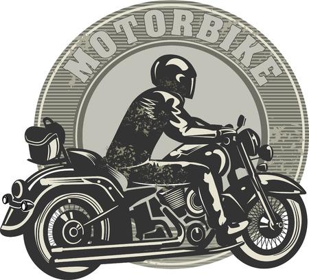Hombre en la moto