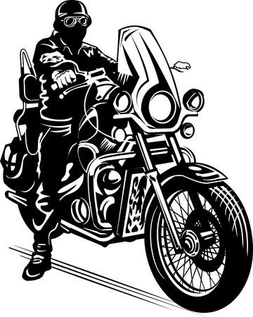 man on the motorbike
