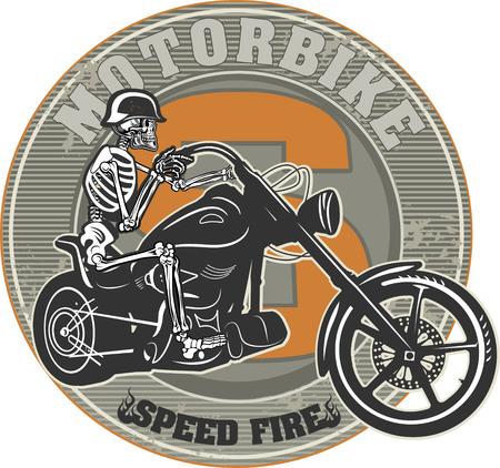 skeleton man: Skeleton & Motorrad