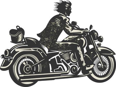 Rider on the motorbike