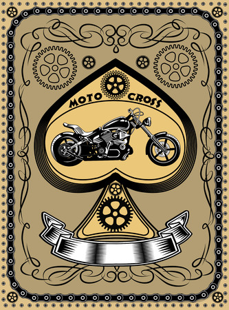 chrome man: Motorbike