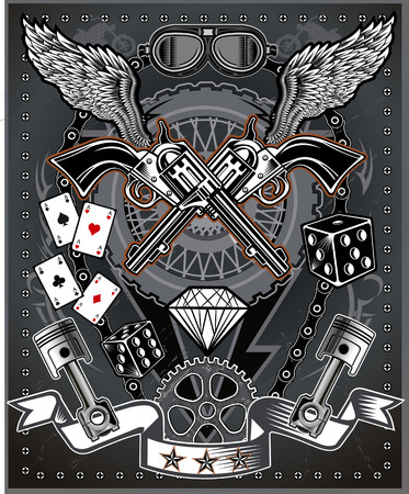 motorcycle: vintage motorcycle label