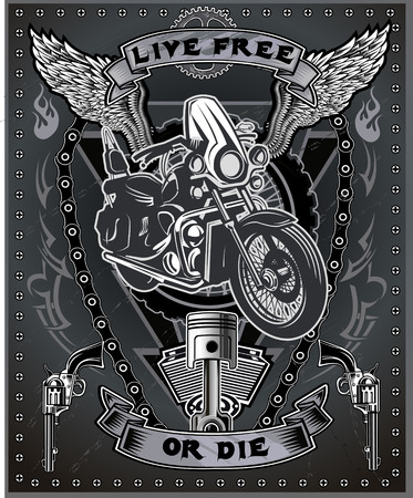 motor: Vintage motorcycle label