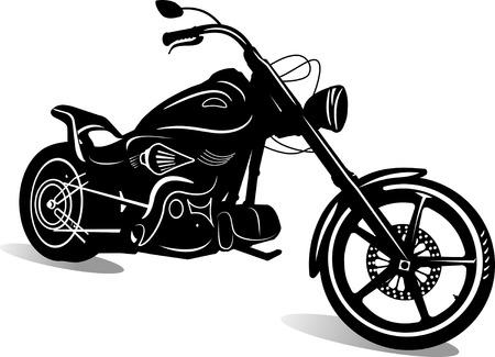motorfiets silhouet Stock Illustratie