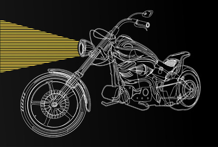 iron fun: motorcycle silhouette
