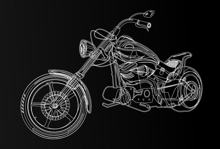 chrome man: motorcycle silhouette